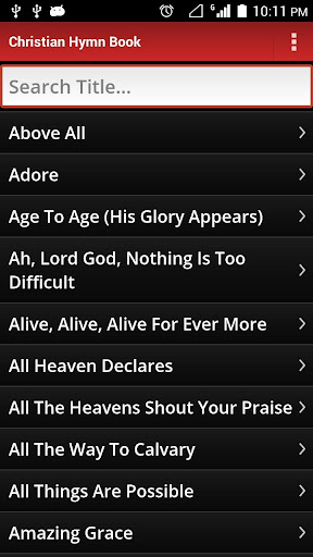 Christian Hymn Book 2.6 screenshots 1