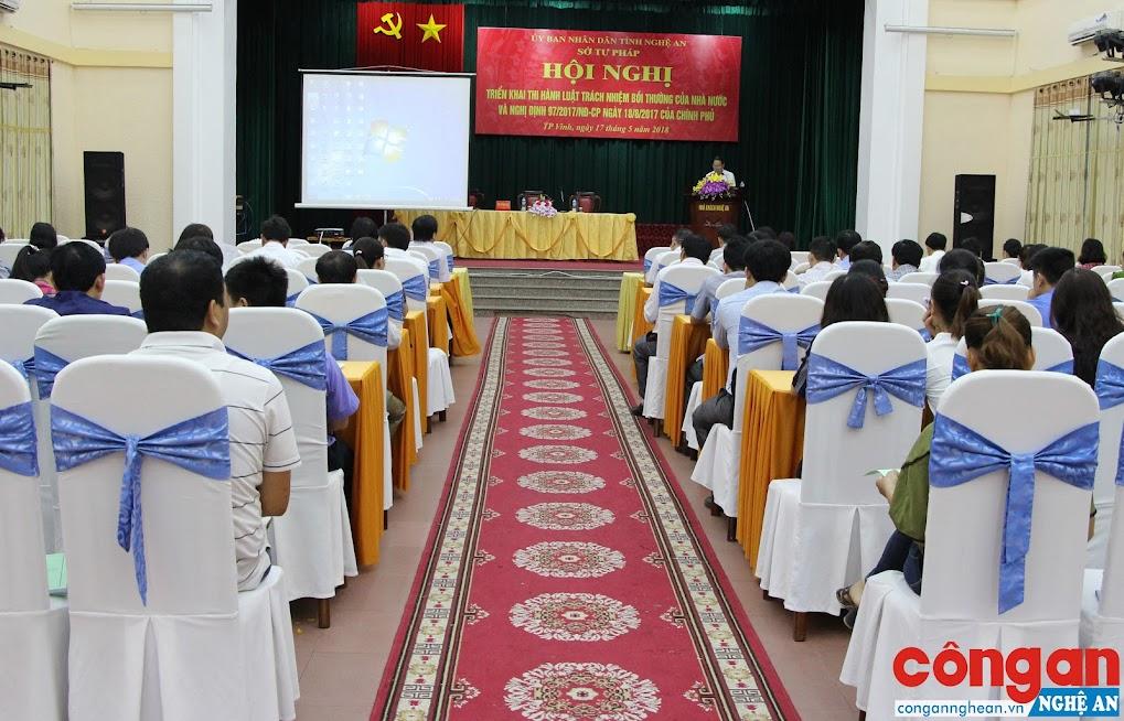 Sở Tư pháp Nghệ An tổ chức tập huấn cho cán bộ làm công tác liên quan đến Luật Trách nhiệm bồi thường của Nhà nước