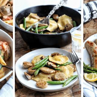 Chicken Sausage Penne Pasta.