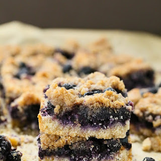 Blueberry Crumb Bars Recipe {Gluten-Free, Vegan}