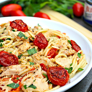 Spaghetti with Tuna and Roasted Tomatoes