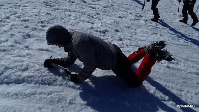 Photo: A onda vježbanje padanja i zaustavljanja cepinom