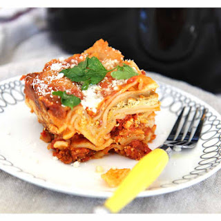 Slow Cooker Pesto Lasagna.