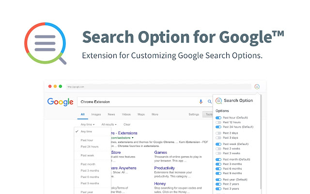 Search Option for Google™