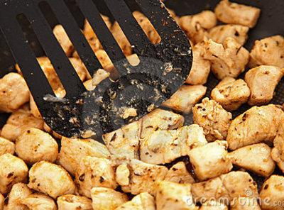 Prepare Chicken: In another large skillet add enough oil to stir fry with and heat...