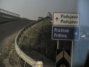 Photo: on the road to Prishtina