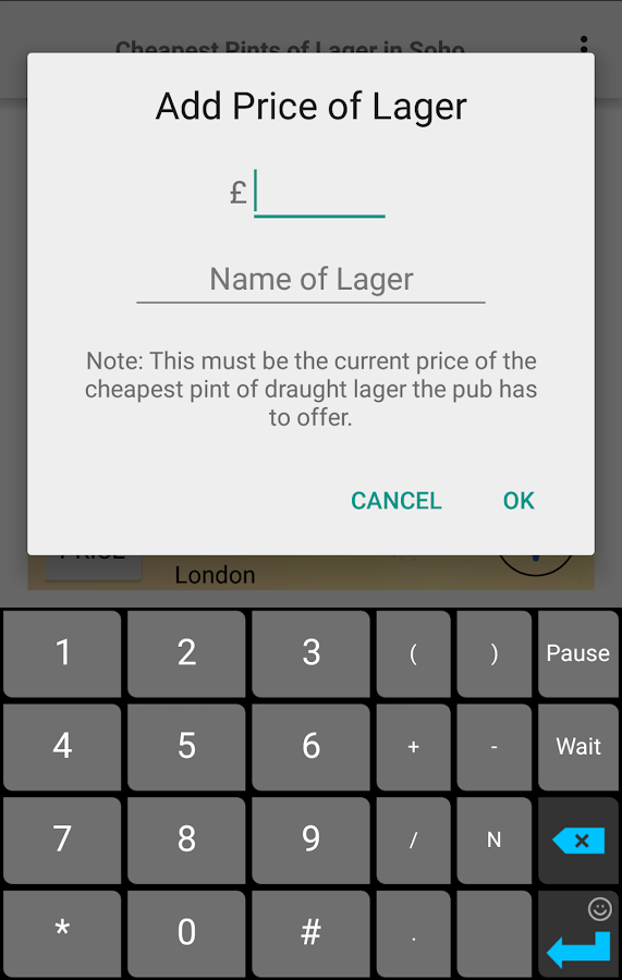 Cheapest Pint- screenshot