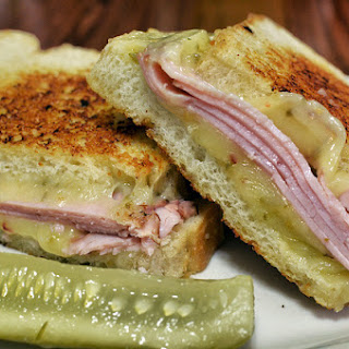 Healthier Grilled Cheese and Ham Sandwich.