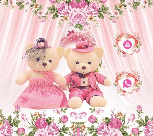 Pink theme teddy bear screenshot
