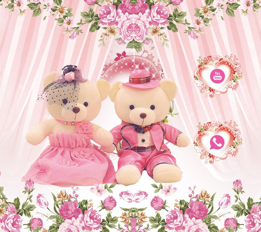 Pink theme teddy bear- screenshot