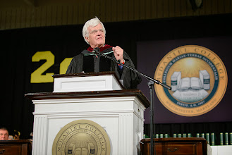 """Photo: Al Hunt warns graduates that they will fail and with failure, comes success. """"You take risks; in the poet's words, your reach exceeds your grasp."""""""