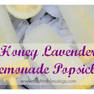 Honey Lavender Lemonade Popsicles