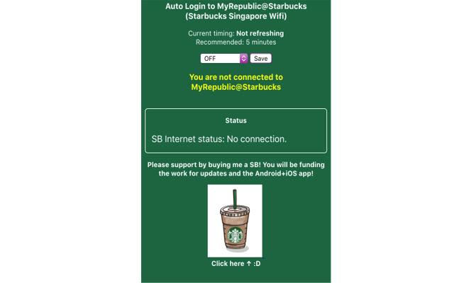 AutoConnect Starbucks Wifi Singapore