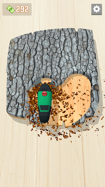 Woodcraft - 3D Carving Game Android App Screenshot