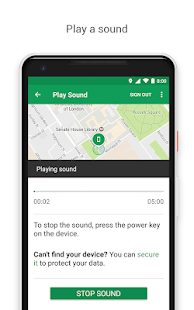 Google Find My Device Screenshot