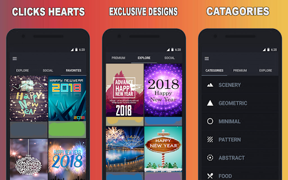 best happy new year 2018 live wallpaper apps poster