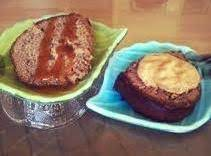Applesauce Walnut Cake W/pumpkin Mousse Topping Recipe