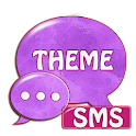 Purple Violet GO Theme SMS