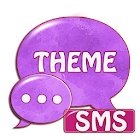 Violet violet GO Theme SMS icon