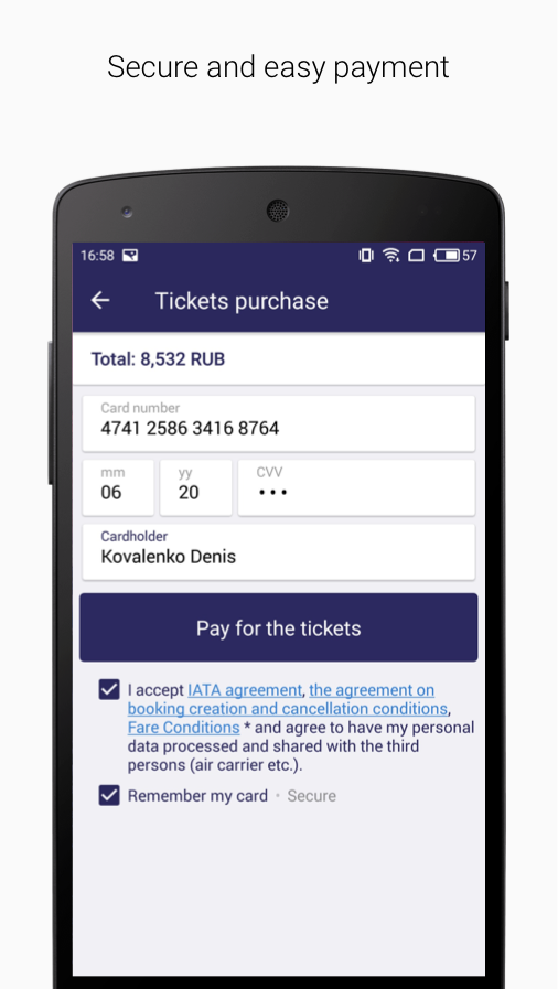 Tickets.ru Air tickets- screenshot