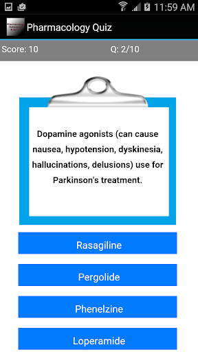 玩免費醫療APP|下載Pharmacology Quiz app不用錢|硬是要APP