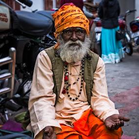 Anticipation by Vijay Tripathi - City,  Street & Park  Street Scenes ( street life, old man, street scene, eyes, street photography )