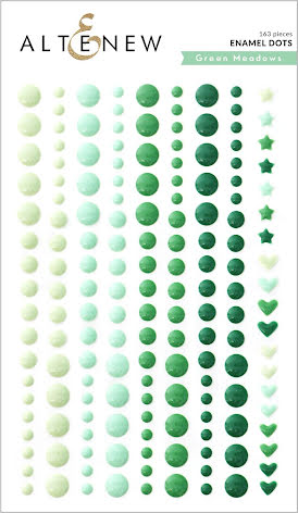 Altenew Enamel Dots 153/Pkg - Green Meadows