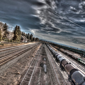 We'll meet somewhere.. far away by Anh Nguyen - Transportation Trains ( railway, railroad, wyoming, train, laramie )