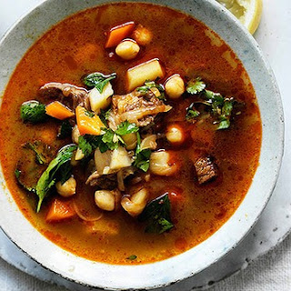 Spicy Lamb And Vegetable Soup With Chickpeas