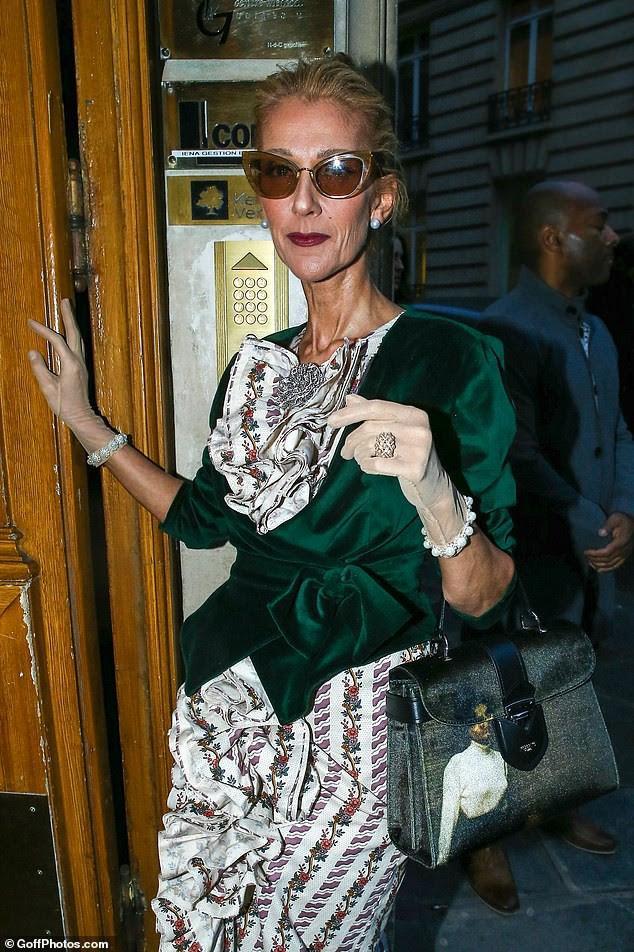 Celine Dion lại gây sốc khi diện váy xẻ sâu khoe ngực với cơ thể nhăn nheo - ảnh 7
