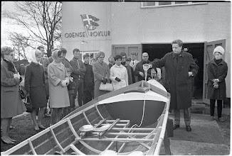 Photo: 1964 Bådedåb i Odense Roklub. Foto Fyens Stifstidende