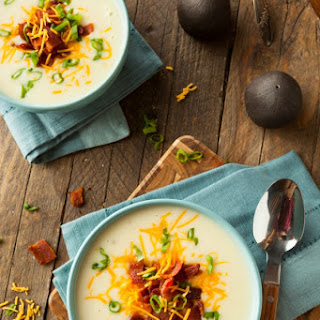 Loaded Baked Potato and Bacon Soup.