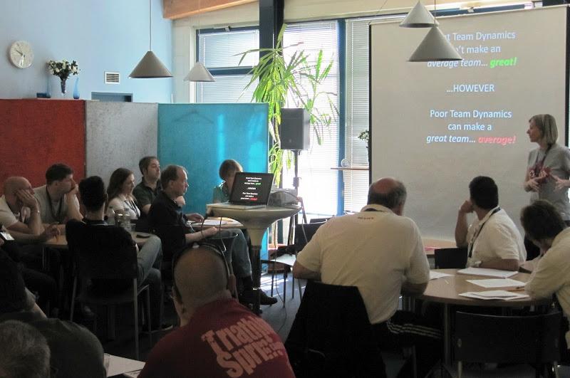 Photo: Classroom session on team dynamics