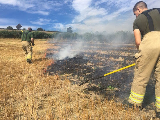 Firefighters battled Golfa blaze