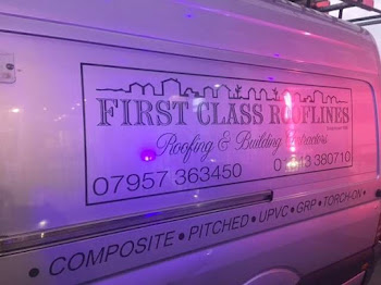 first class roofline van at night