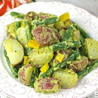 Vegan Potato Salad With Creamy Avocado Dressing
