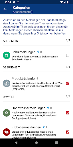 Hessen WARN screenshot 5