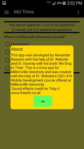 Millersville University Trivia 1.2 screenshots 3