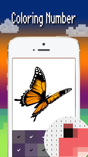 Butterfly color by number : Bugs coloring book apktram screenshots 4