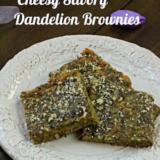 Cheesy Dandelion Einkorn Savory Brownies.