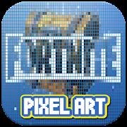 تنزيل Fortnite Color By Number Fortnite Skin Pixel Art Apk