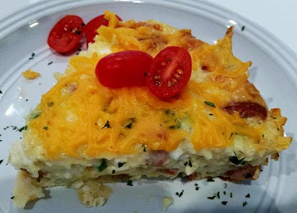 ~ Cottage Sausage & Egg Bake ~ Recipe