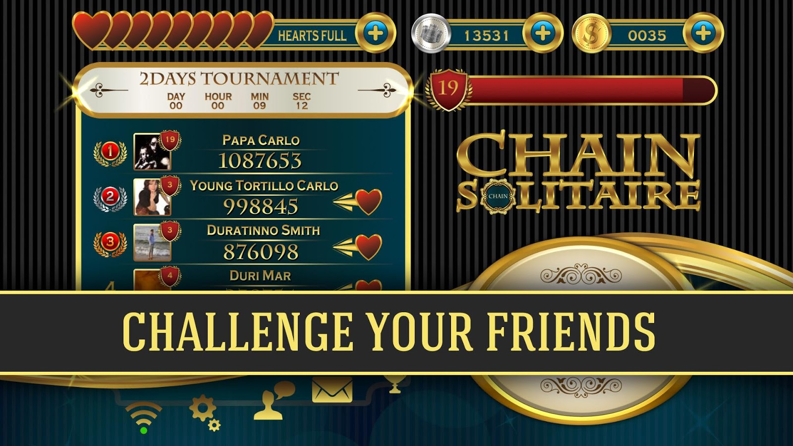 Chain: Deluxe Card Solitaire Challenge- screenshot
