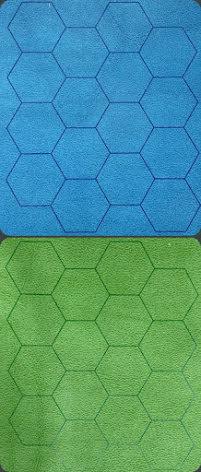 Megamat™ 1inch Reversible Blue-Green Hexes (release Juli)
