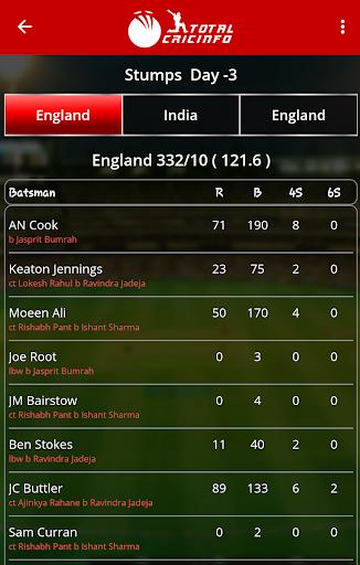 Live Cricket Scores & Updates -Total Cricinfo screenshot 3