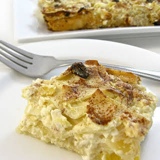 Super Yummy, Low Fat Noodle Pudding Casserole.