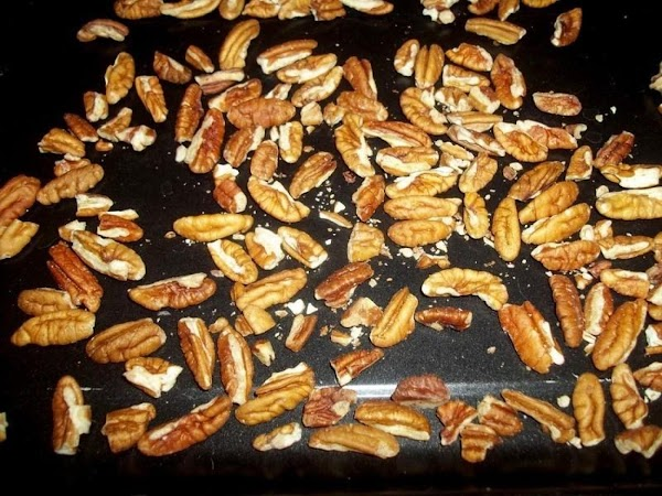 Preheat oven to 350 degree F.Place pecan pieces on a sheet pan and bake...
