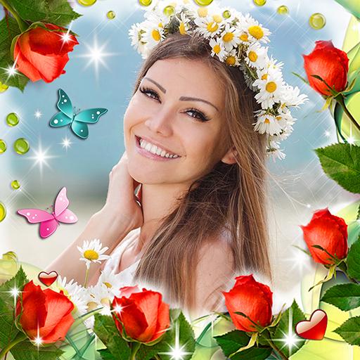 Baixar Molduras para Fotos Flores 🌸 Colagem com Efeito para Android