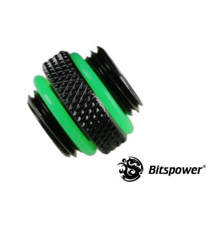 """Bitspower gjengekonverter, 1/4""""BSP, Matt Black"""