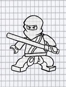 How to draw lego ninja screenshot 1